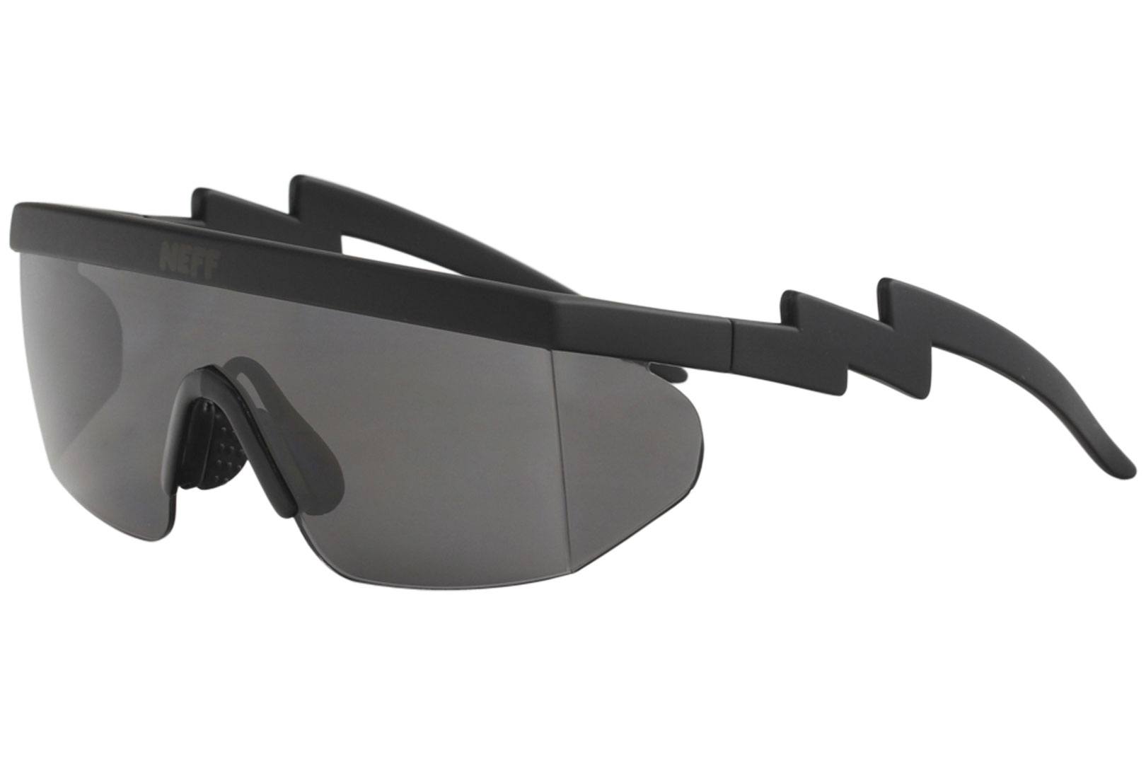 2684aeddf4 Neff Brodie NF0304 NF 0304 Black Rubber Fashion Shield Sunglasses ...