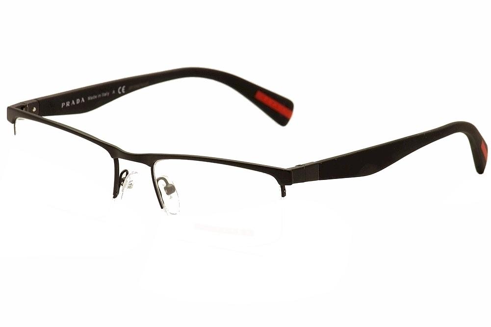 7df22a4a80e Prada Linea Rossa Eyeglasses VPS52F VPS 52F DG0101 Black Rub ...