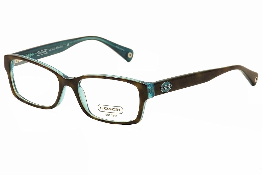 020c65f5b9f8 Coach Eyeglasses Brooklyn HC6040 HC 6040 5116 Tortoise Teal Optical ...