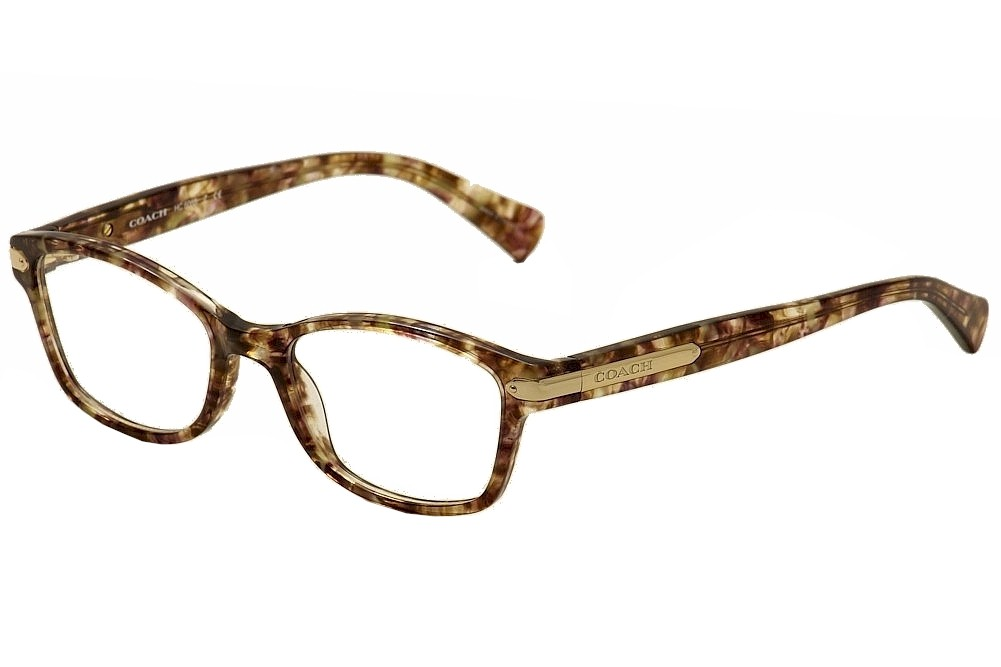 Coach Eyeglasses HC6065 6065 5287 Confetti Light Brown/Gold Optical ...