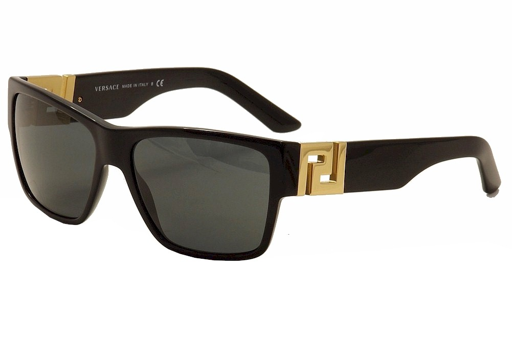 8851bbb194 Details about Versace VE4296 VE 4296 GB1 87 Black Gold Fashion Sunglasses  59mm