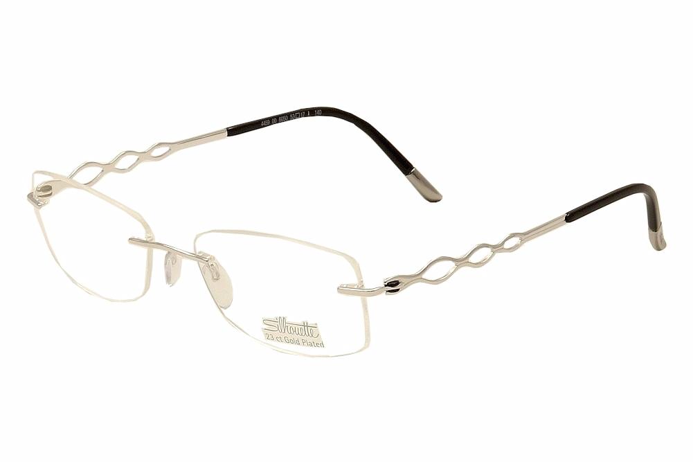 Silhouette Eyeglasses Charming Diva 4459 Silver/23K Plated Optical ...