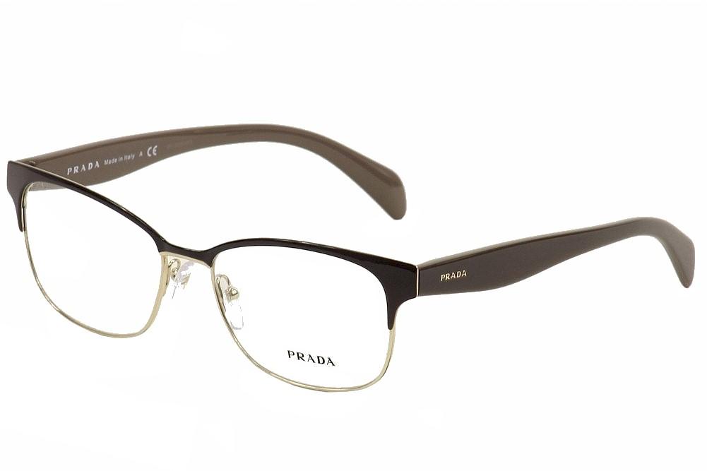 b7505b4f4c68 Prada Women s Eyeglasses VPR65R VPR 65R DHO-1O1 Charcoal Gold ...