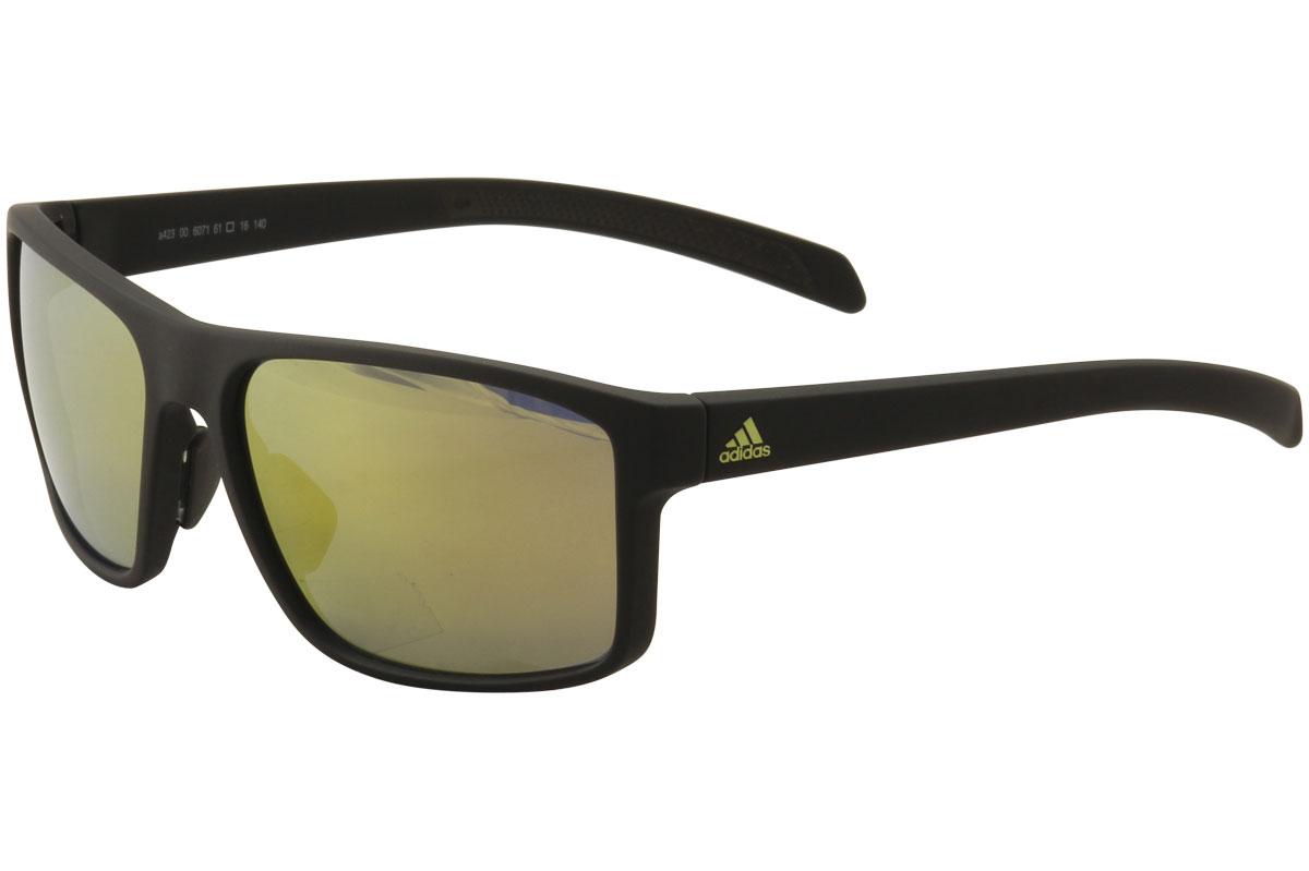2858397689b Adidas Men s Whipstart A423 6071 Matte Black Sport Sunglasses 61mm ...