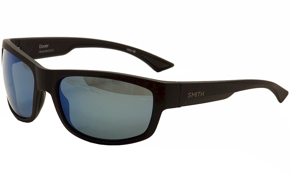 ef0cb9e5b60 Smith Optics Men s Dover Matte Black Silver Polarized Fashion ...