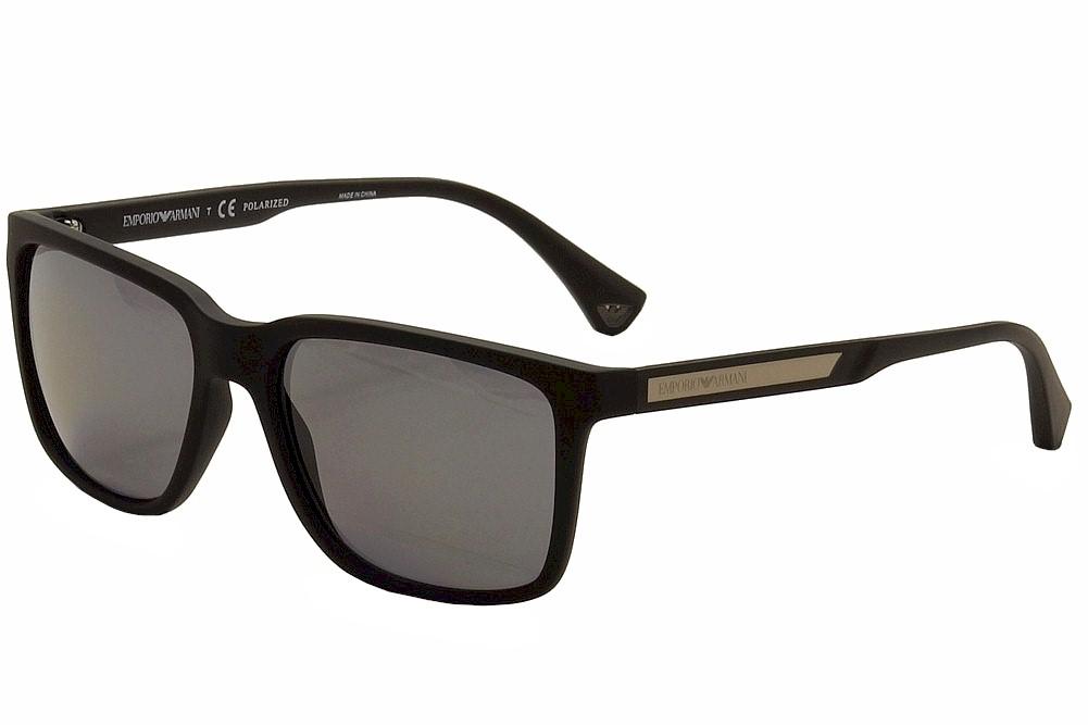 Emporio Armani EA4047 5063 81 Black Rubber Fashion Polarized ... 5032ea29c752