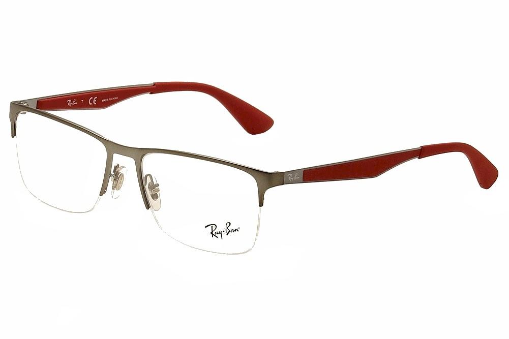 c402792748 Ray Ban Eyeglasses RB6335 6335 2620 Gunmetal RayBan Half Rim Optical ...