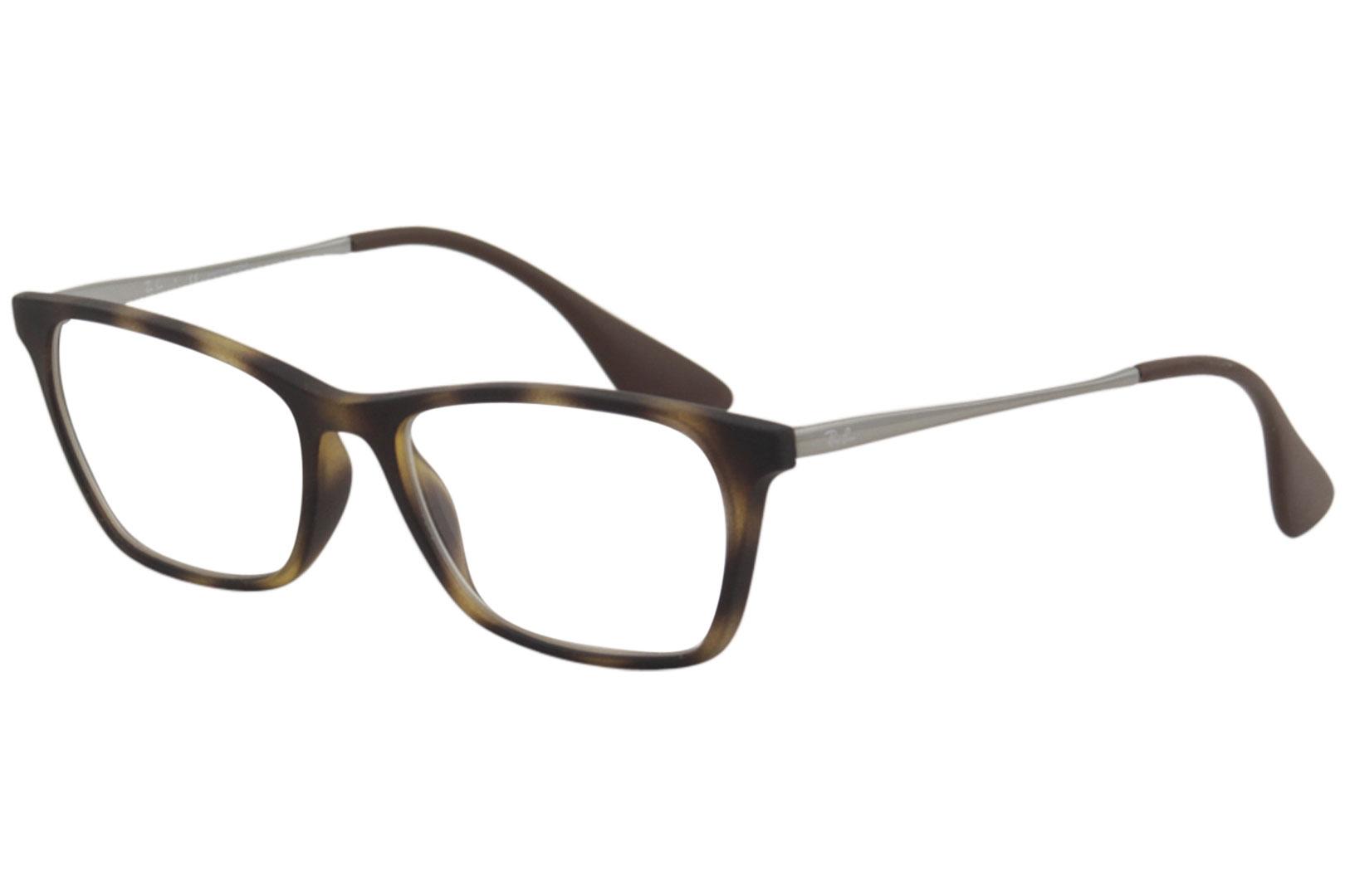 2757dc4845 Ray Ban Men s Eyeglasses RX7053F RB 7053 F 5365 Rubber Havana ...