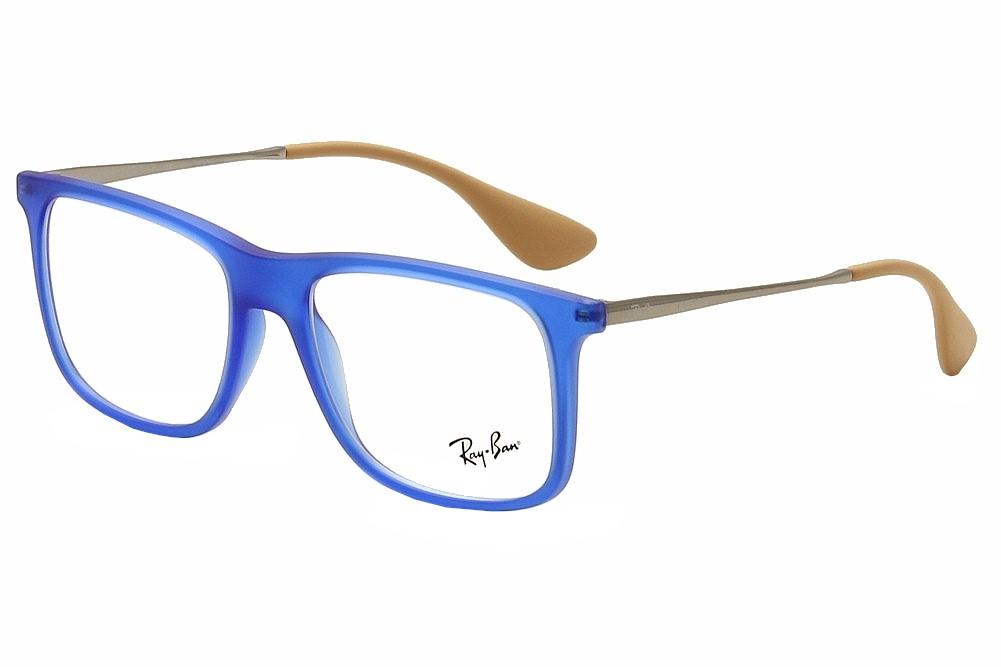 Ray Ban Eyeglasses RB7054 RB/7054 5524 Blue Rubber RayBan Optical ...