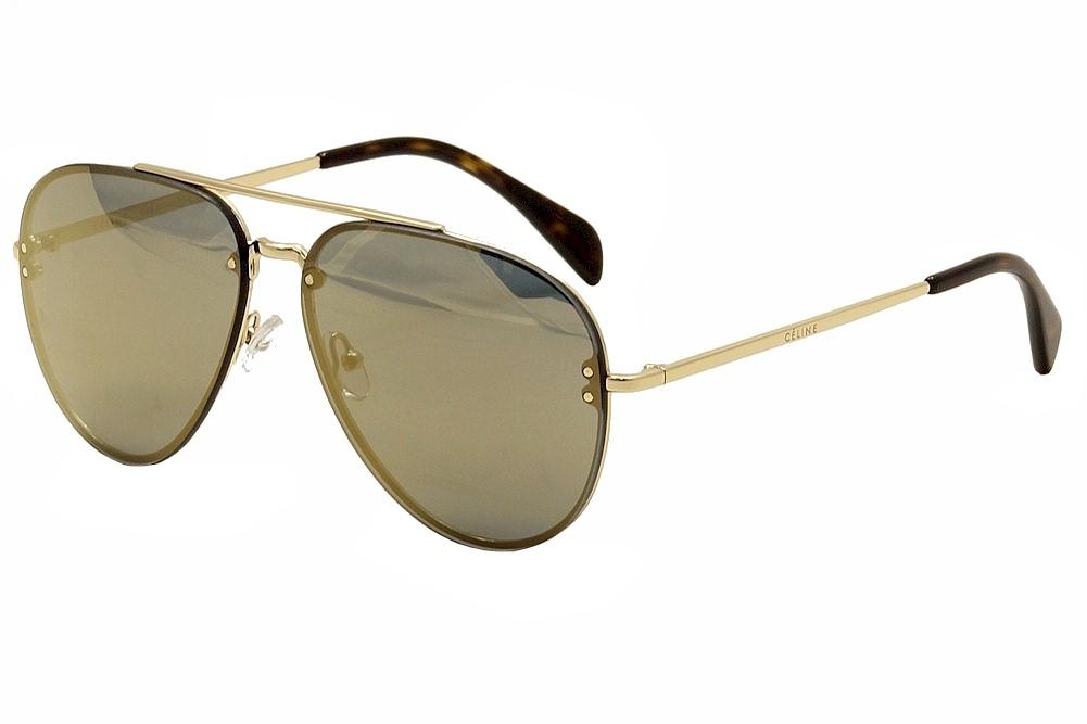 7e9458f558406 Celine CL 41391S 41391 S J5G MV Gold Havana Pilot Sunglasses 60mm ...