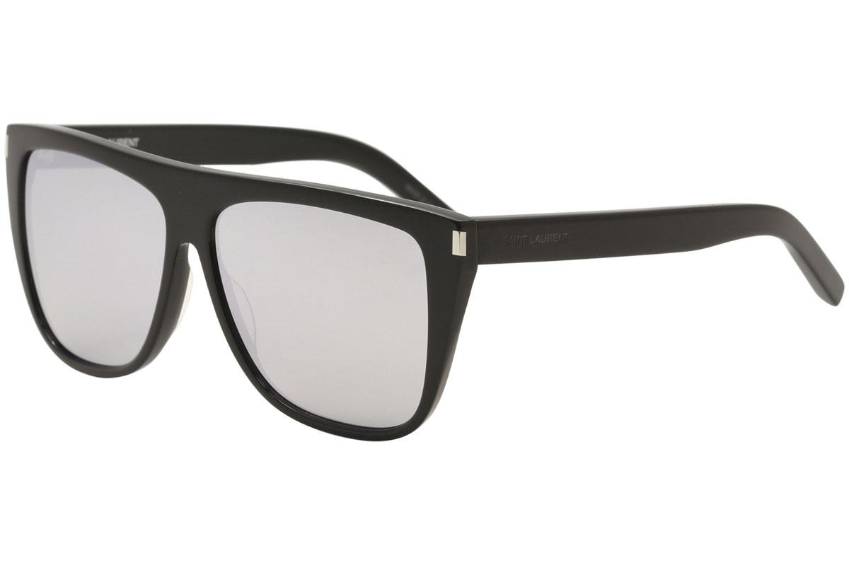 a59b67a7701 Saint Laurent Women's SL1 SL-1 008 Black Square Sunglasses 59mm ...