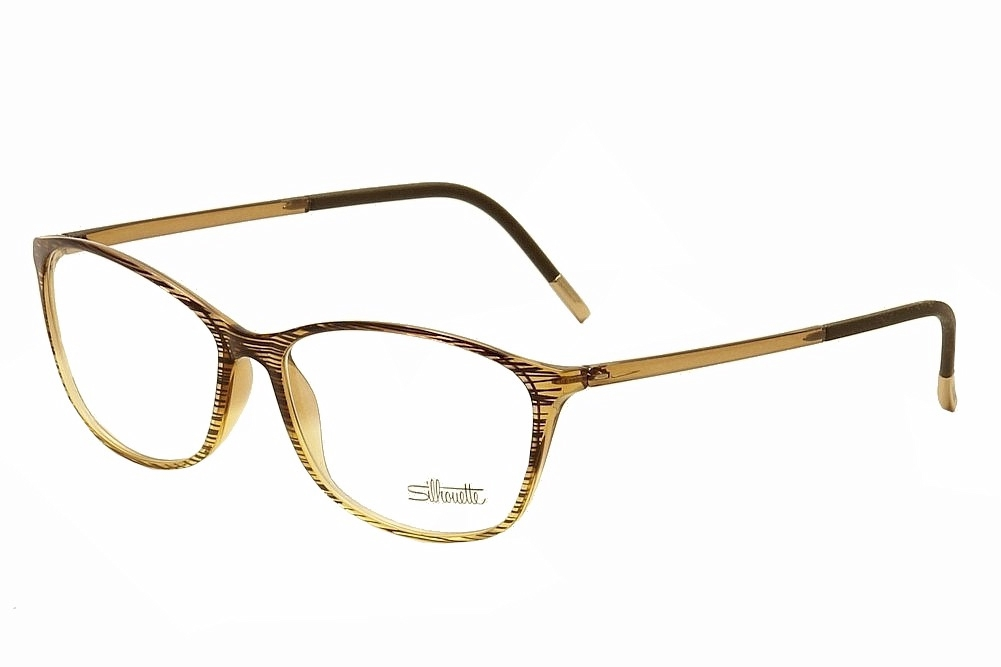 31be1bc726 Détails   Silhouette Womens Eyeglasses SPX Illusion 1563 6051 Amber Full  Rim Optical Frame