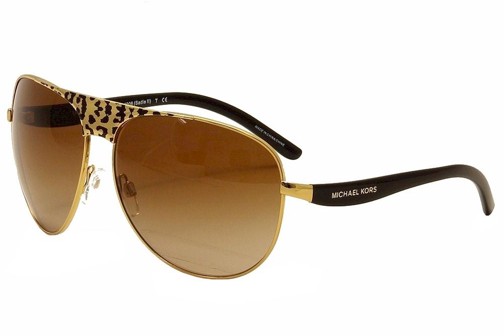 Details about Michael Kors Sadie II MK1006 MK1006 105713 BlackGold Pilot Sunglasses 62mm