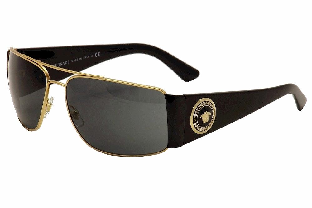 69186abb1464 Versace VE2163 VE 2163 100287 Gold Black Medusa Fashion Sunglasses ...