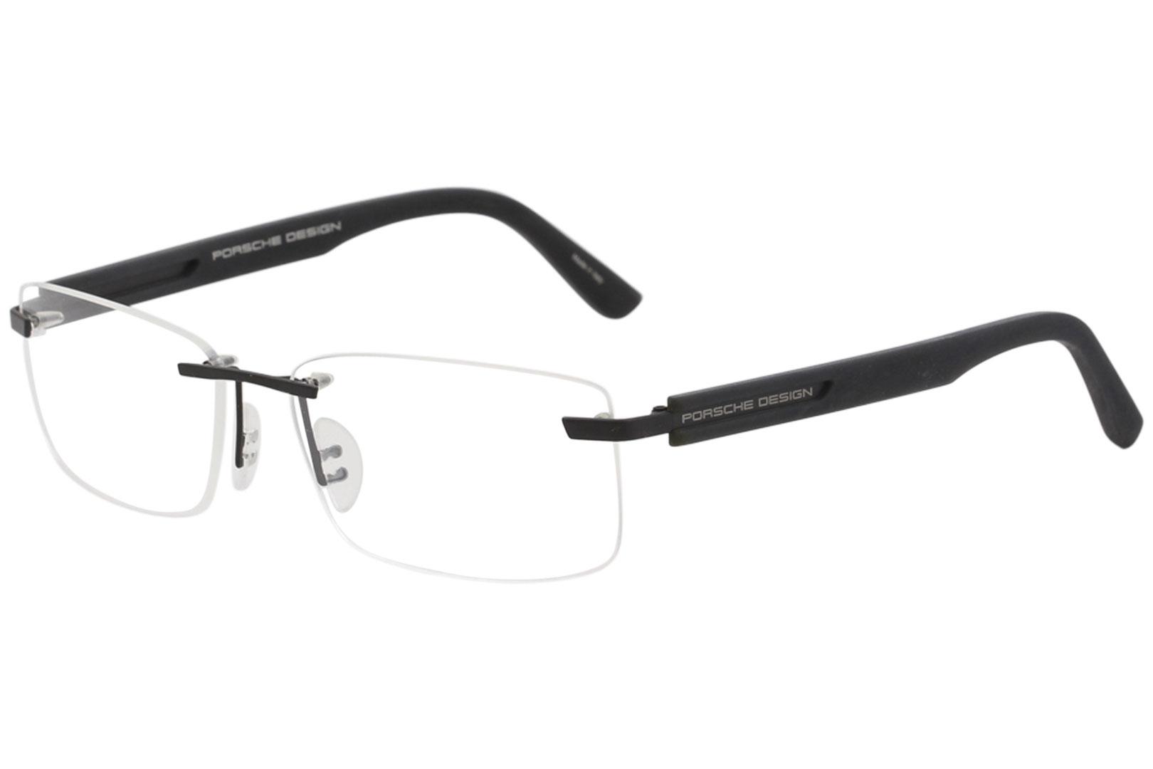 24113d0da05 Porsche Design Men s Eyeglasses P8232 P 8232 A Black Rimless Optical ...