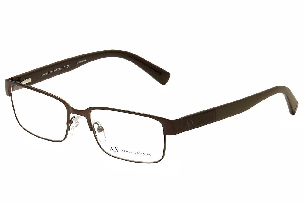 277ad79113 Armani Exchange Men s Eyeglasses AX1017 AX 1017 6083 Brown Optical ...