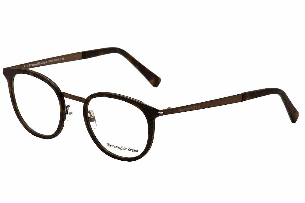 8b2708868b Ermenegildo Zegna Eyeglasses EZ5048 5048 052 Havana Full Rim Optical ...