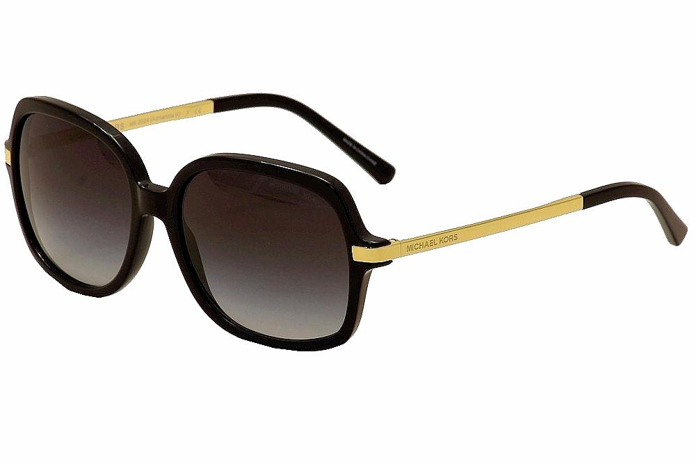5dd6a35bba500 Michael Kors Adrianna II MK2024 MK 2024 316011 Black Gold Sunglasses ...