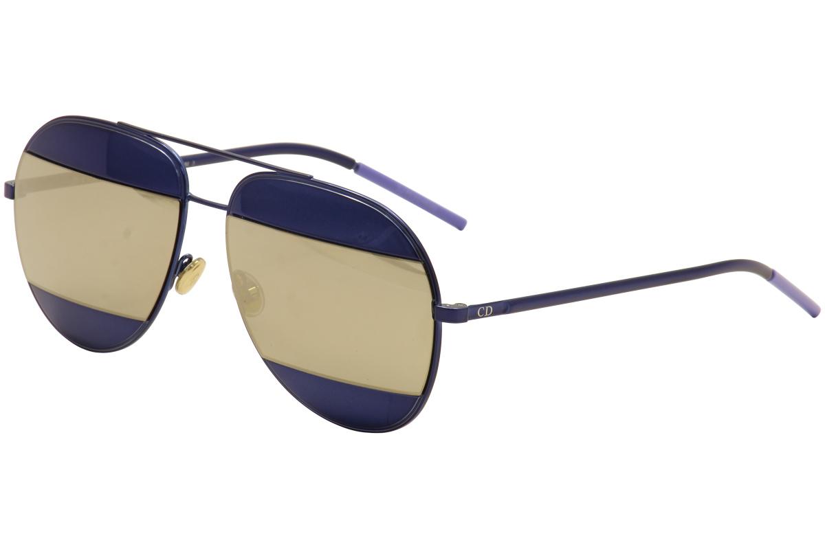 c11c6a0fc3 Christian Dior Women s Split-1 QAOUE Blue Blue Ivory Mirror Pilot ...