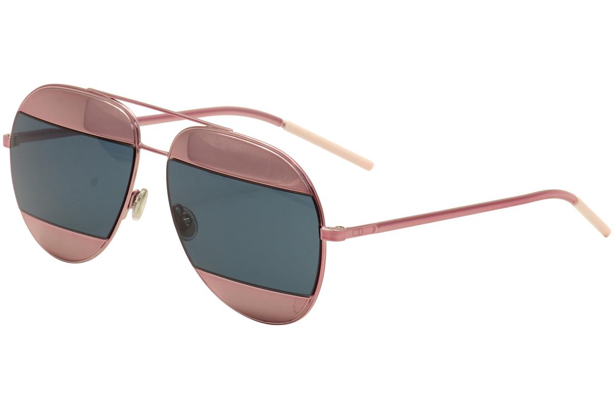 4ec3620c0b Christian Dior Women s Split-1 02T8F Pink Blue-Pink Mirror Lens ...