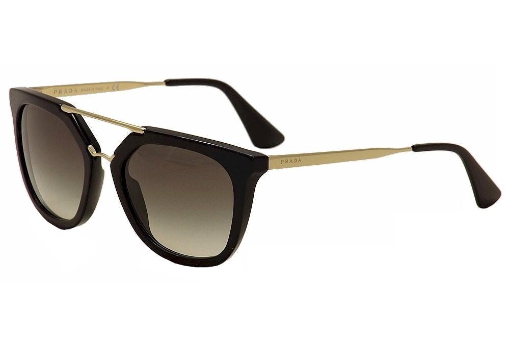 c90d39ef790a3 Prada Women s SPR13Q SPR 13Q 1AB-0A7 Black Gold Fashion Sunglasses ...