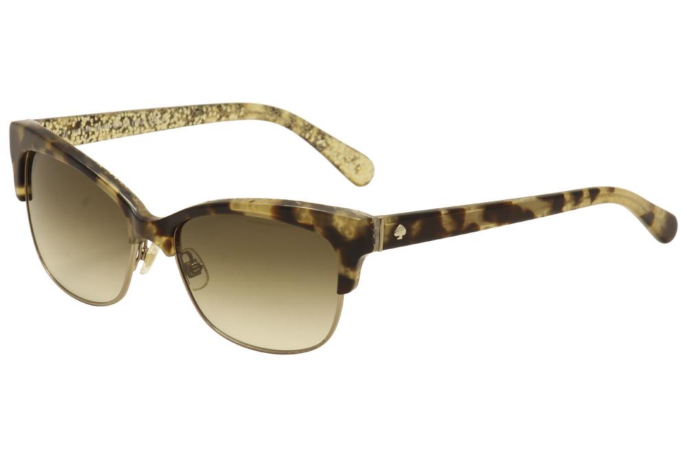 5ab604196534 Kate Spade Shira S 0ESP Y6 Camel Tortoise Gold Glitter Cat Eye ...
