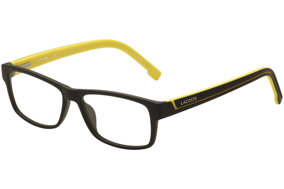 66c955d9e43 Lacoste Men s Eyeglasses L2707 2707 002 Black Yellow Full Rim ...