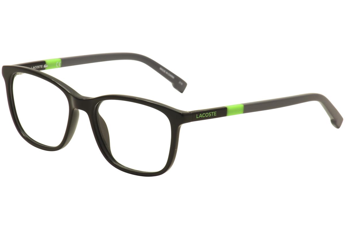 c6e941bf3 Lacoste Kids Eyeglasses L3618 L/3618 001 Black/Green/Grey Optical ...
