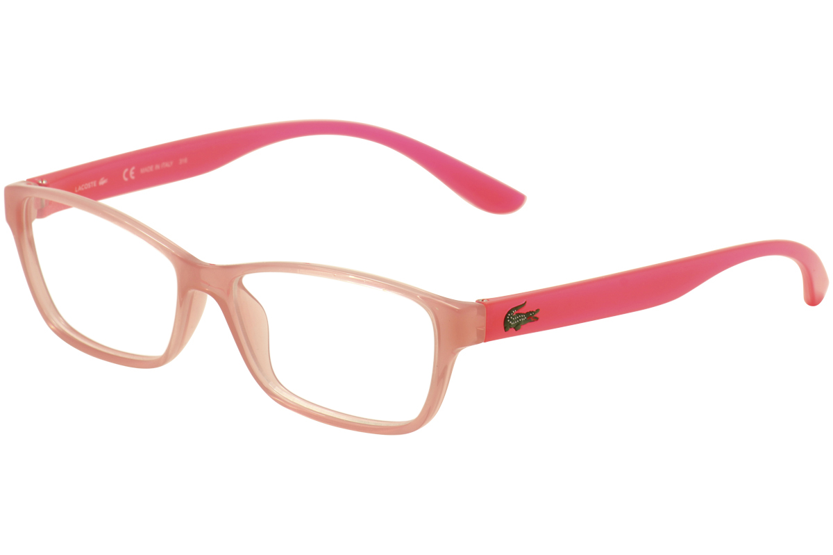 5ecce8c99722 Lacoste Kids Eyeglasses L3803B L 3803 B 662 Pink Translucent Optical ...
