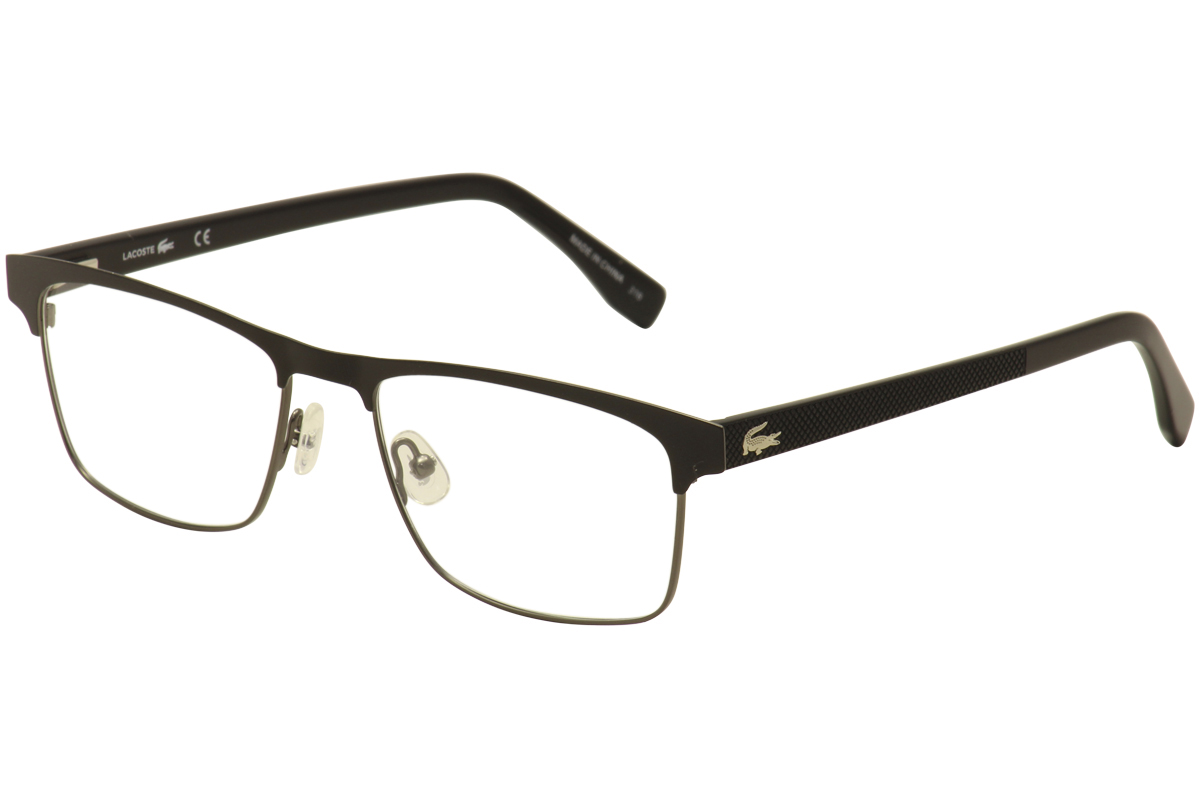 125360f8fe8 Lacoste Eyeglasses L2198 L 2198 001 Black Silver Full Rim Optical ...