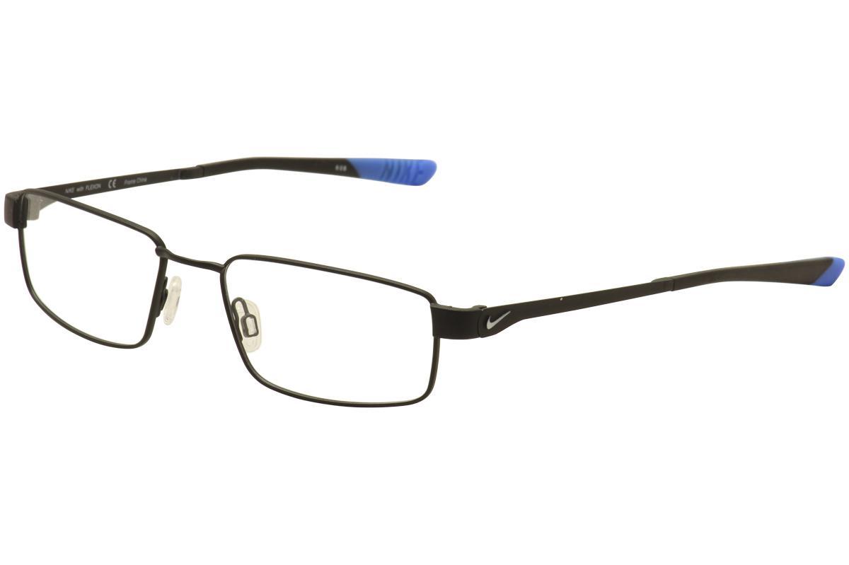 735f8b638a Nike Flexon Eyeglasses 4270 007 Satin Black PhotoBlue FullRim ...