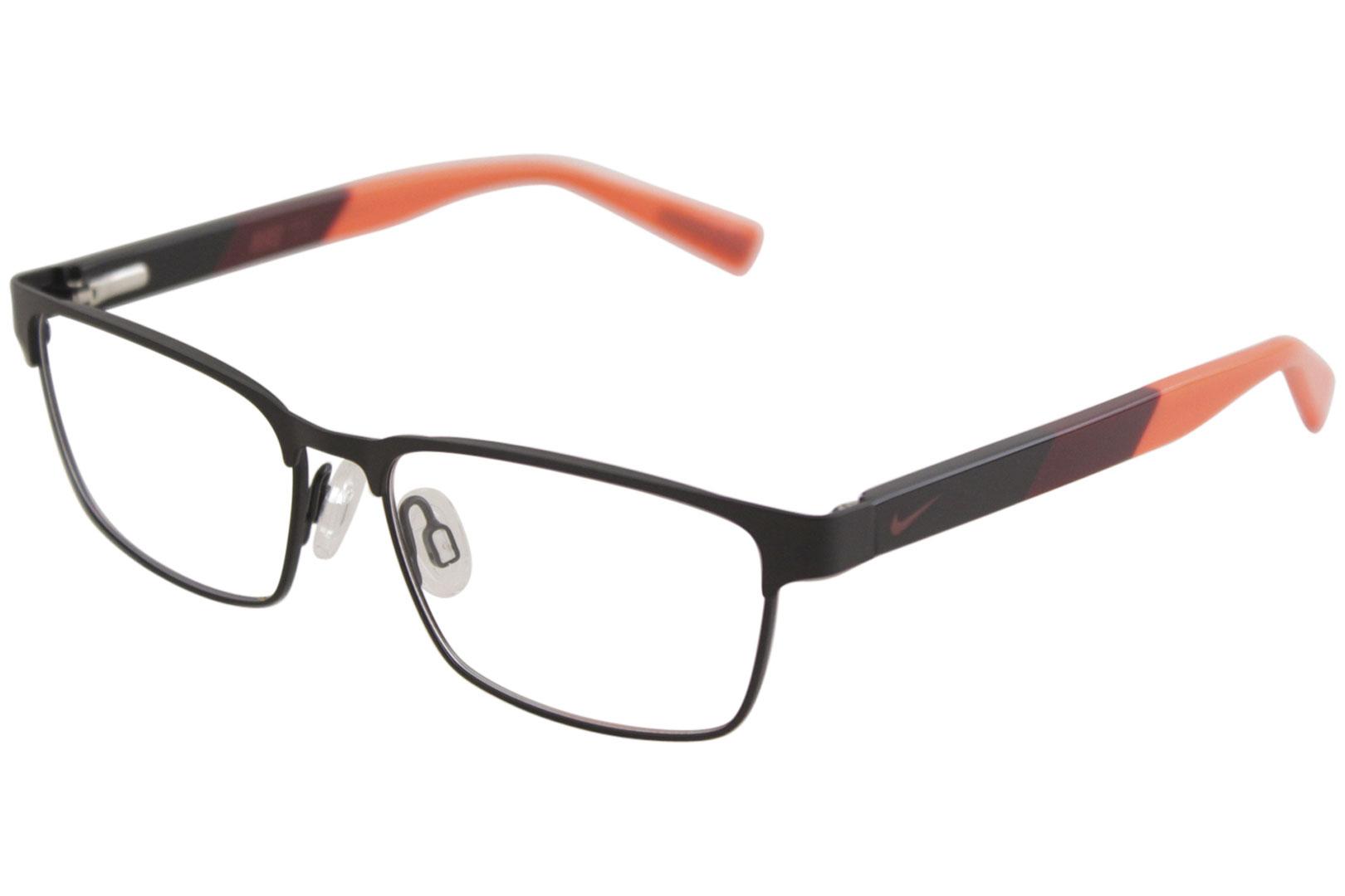 194e8ec77981 Nike Youth Boy's Eyeglasses 5575 001 Satin Black/Team Red Optical ...