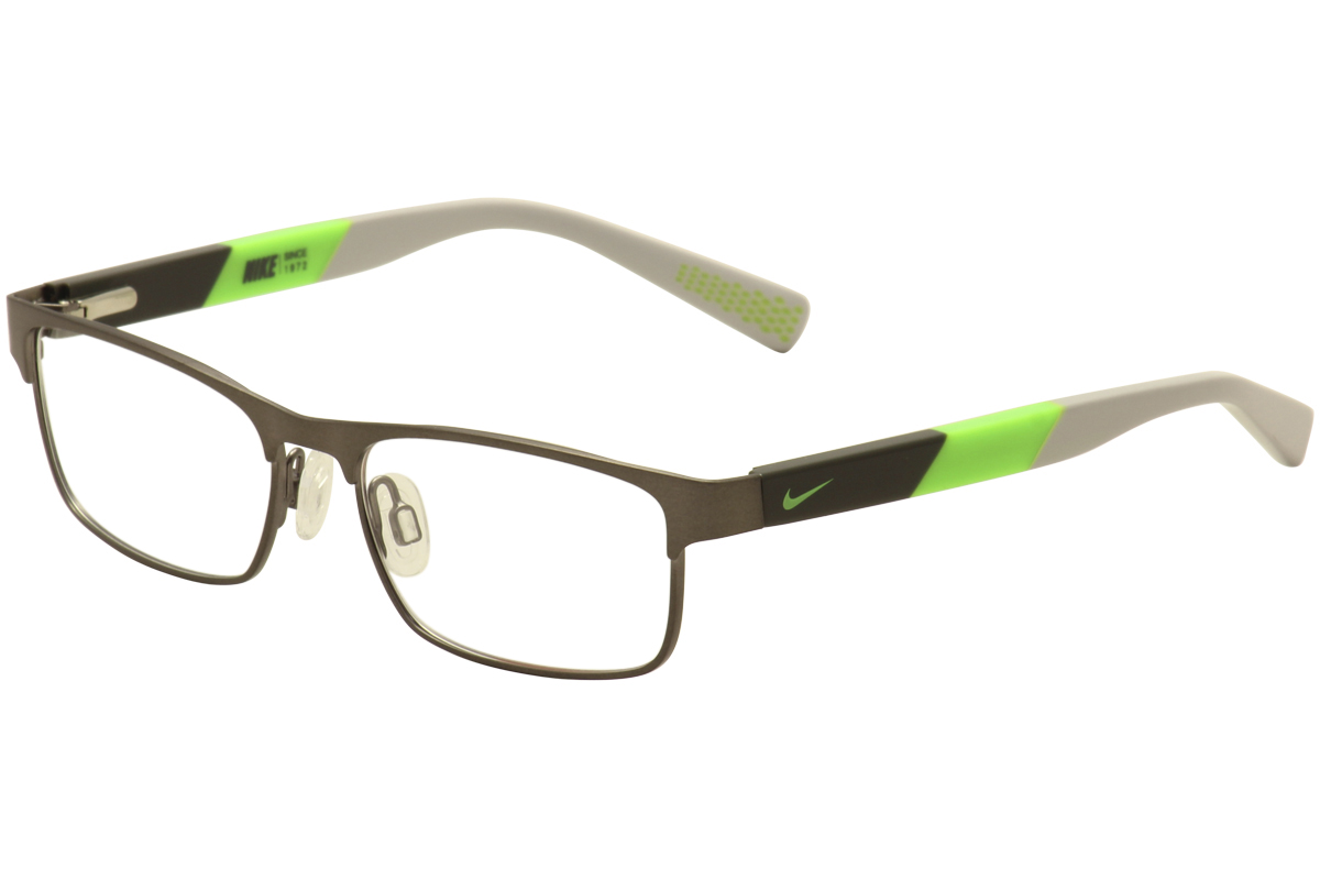ccc4df3b83c6 Nike Kids Youth Eyeglasses 5574 069 Gunmetal Black Green Optical ...