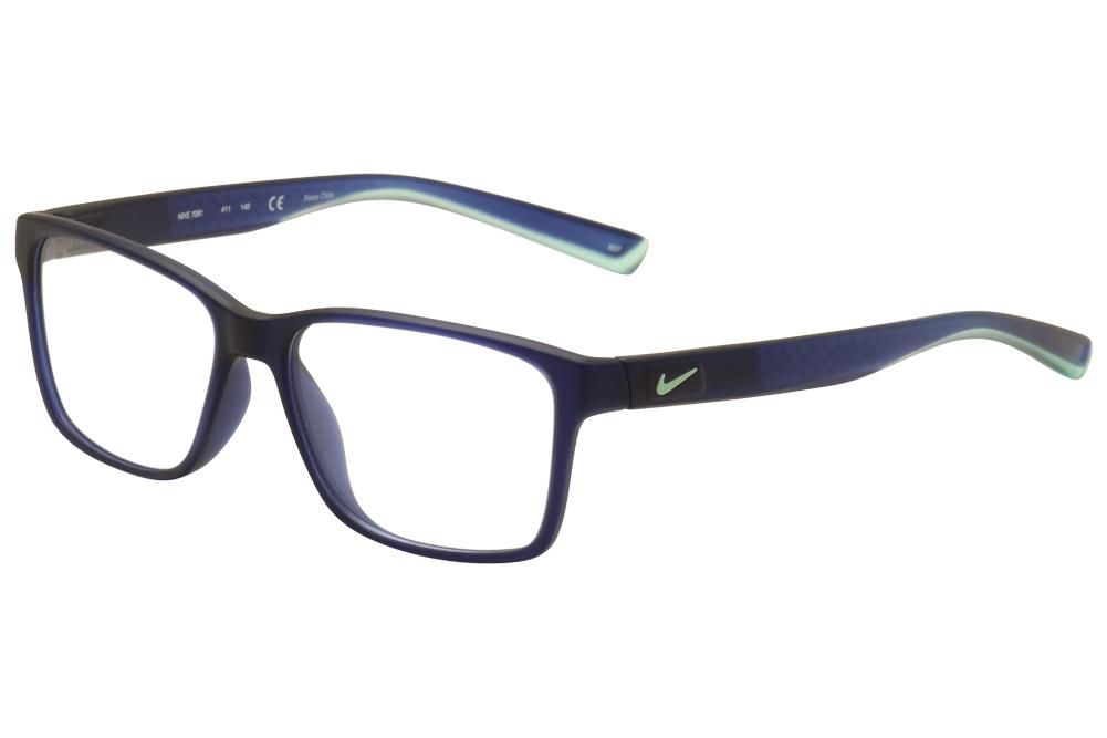 Nike Mens Eyeglasses 7091 411 Matte Navy/Blue Crystal ...