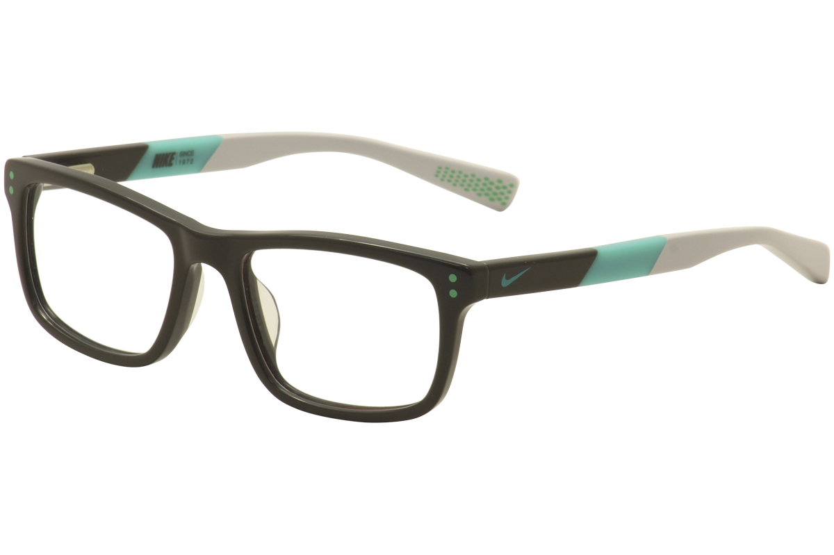 41ac67937b8 Nike Kids Youth Eyeglasses 5536 070 Dark Grey Teal Full Rim Optical ...