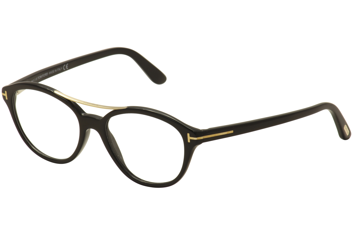58f50db97c30 Tom Ford Women s Eyeglasses TF5412 TF 5412 001 Black Gold Optical ...