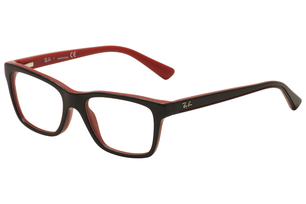 16e82bd840b Ray Ban Kids Eyeglasses RY1536 RY 1536 3573 Black Red RayBan Optical ...