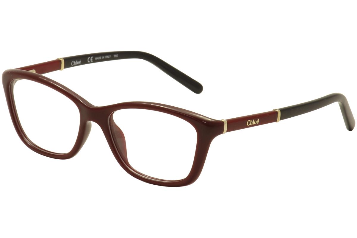 Chloe Eyeglasses CE2639 CE/2639 613 Red/Gold/Black Full Rim Optical ...