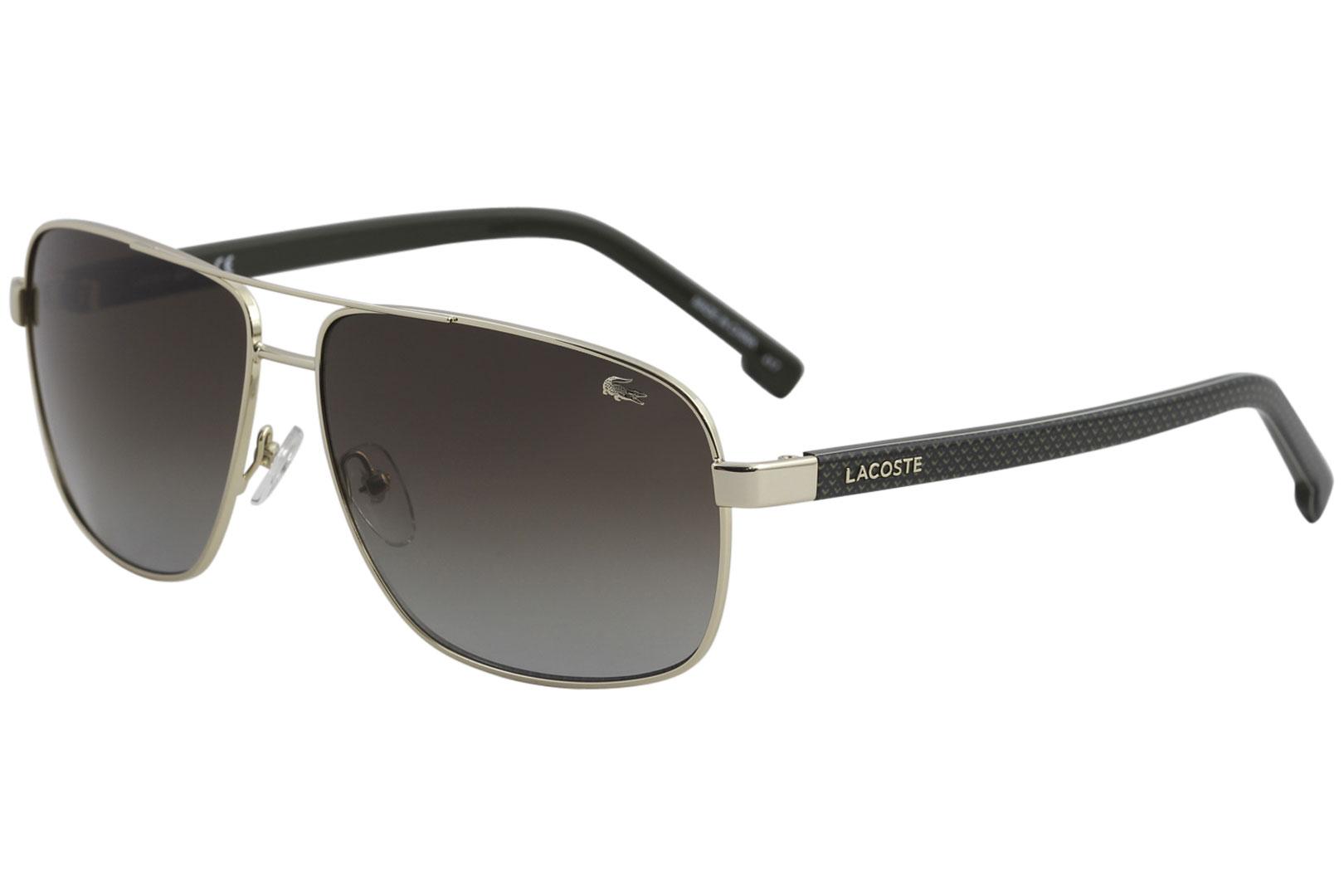 81a0b7b62e31b8 Lacoste Men s L162S L 162 S 714 Gold Fashion Pilot Sunglasses 61mm ...