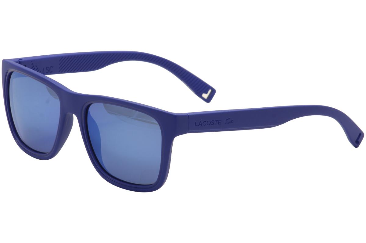 Lacoste Men s L816S L 816 S 424 Matte Blue Sunglasses 54mm ... 08f54fe33b