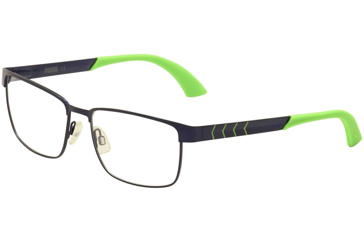 a839b5fd330b Puma Eyeglasses PU0050O PU/0050O 007 Blue/Green Full Rim Optical ...