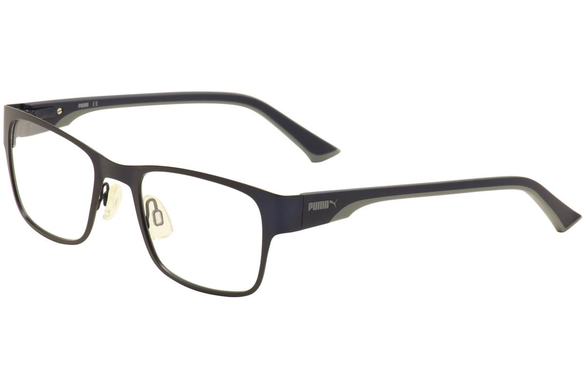 cb8348d0f516 Puma Eyeglasses PU0032O PU 0032O 003 Matte Blue Navy Grey Optical ...
