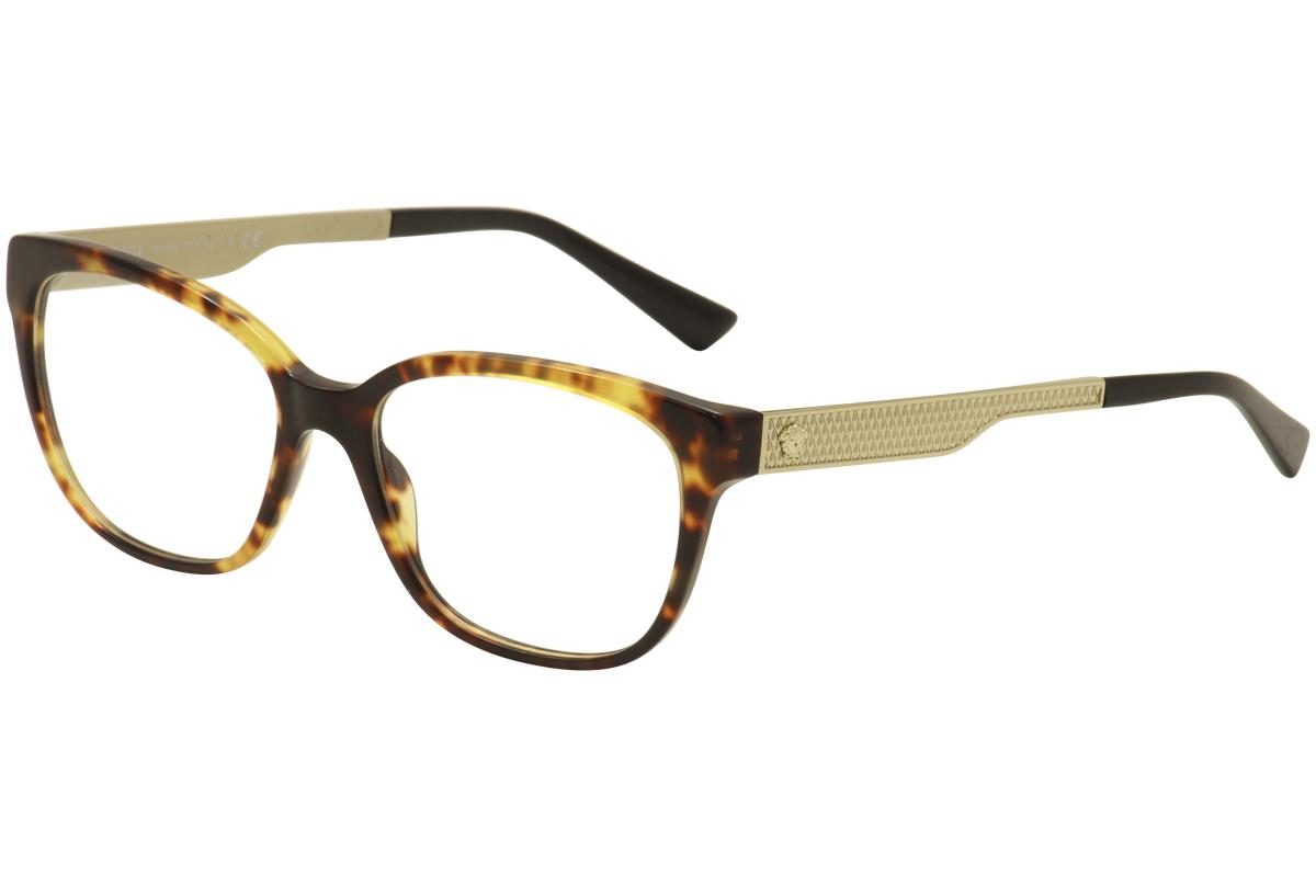 a0fac2fb781d Versace Eyeglasses VE3240 VE 3240 5208 Havana Gold Black Optical ...