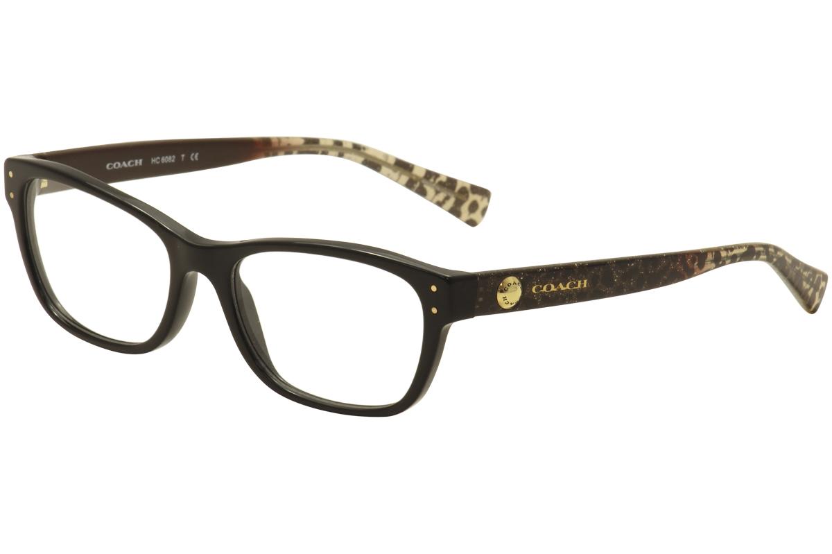 e79c06afc4 Coach Eyeglasses HC6082 HC 6082 5353 Black Wild Beast Gold Optical ...