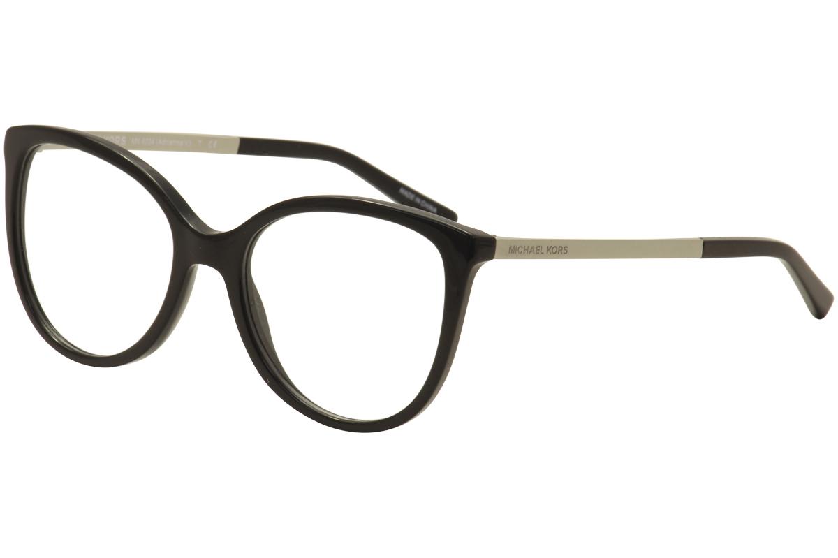 9630df42c2658 Michael Kors Eyeglasses Adrianna V MK4034 3204 Black Full Rim ...