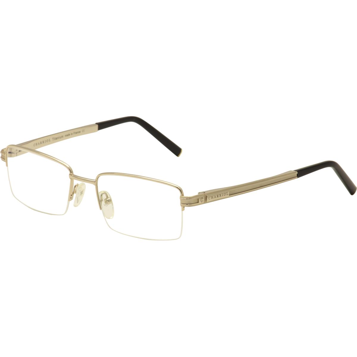 Gold Plated Glasses Frames : Charriol Mens Eyeglasses PC/7475 C7 22K Gold Plated ...
