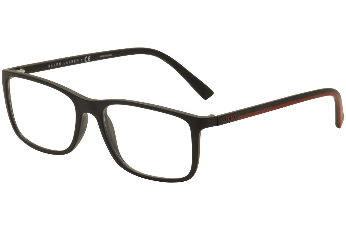 9ad66cb59ee Polo Ralph Lauren Men s Eyeglasses PH2162 PH 2162 5284 Black Optical ...