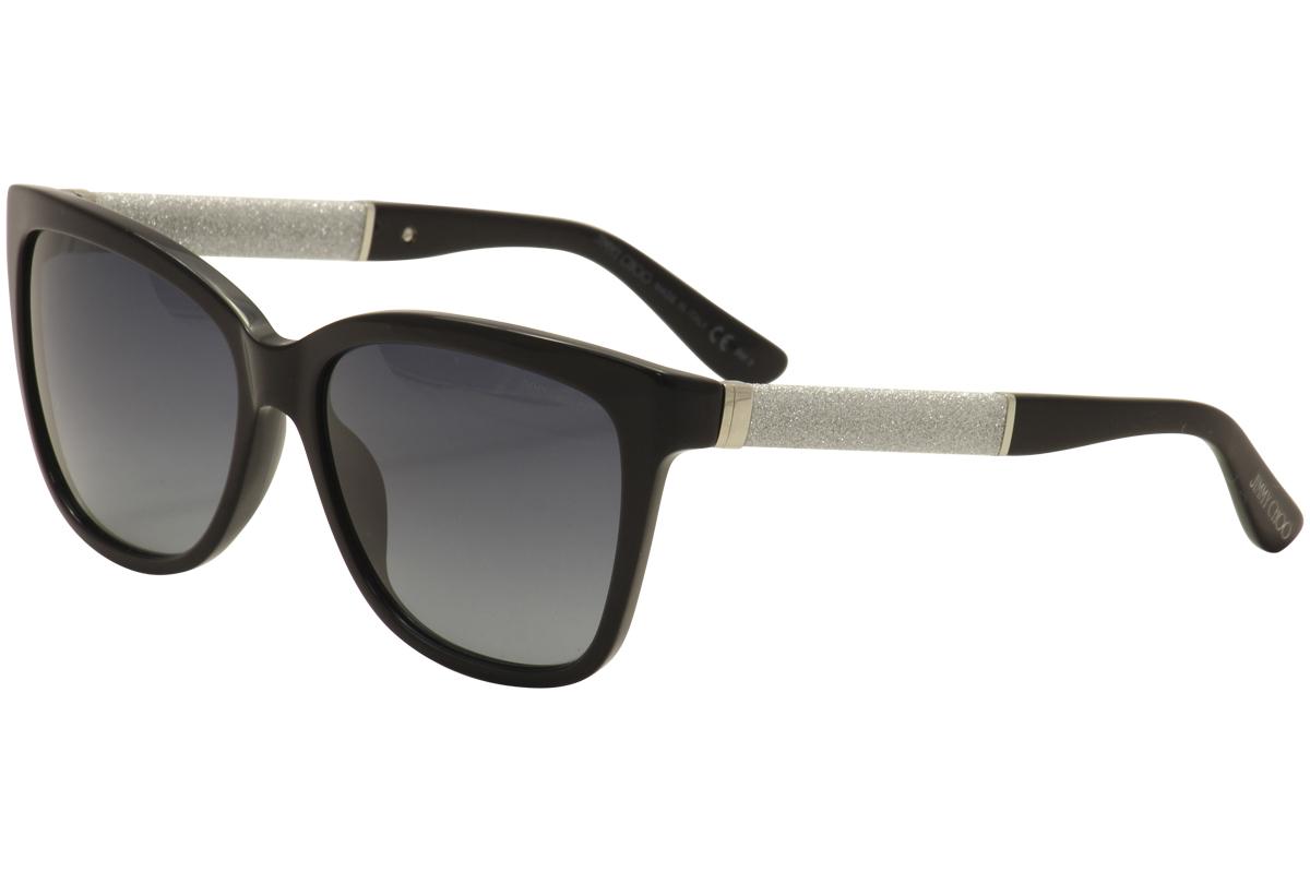 938a96e2f6b7 Jimmy Choo Women s Cora S FA3 HD Black Silver Fashion Sunglasses ...