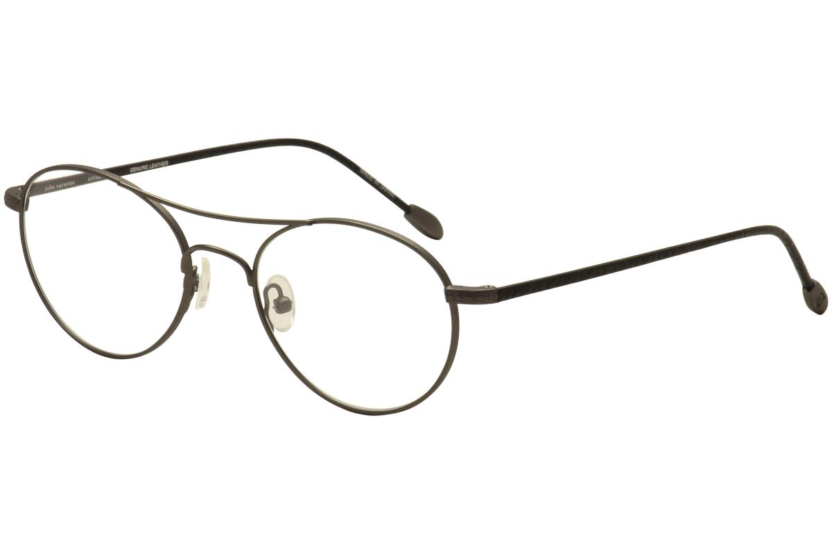 31170d43e7 John Varvatos Men s Eyeglasses V158 V 158 Gunmetal Full Rim Optical ...
