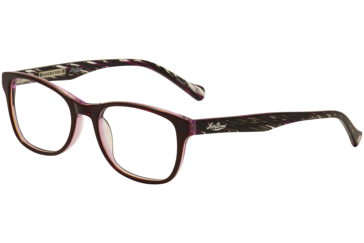 Lucky Brand Women\'s Eyeglasses D200 Purple/Black Full Rim Optical ...